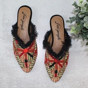 NWT Free People Fabric Newport Flat Mules